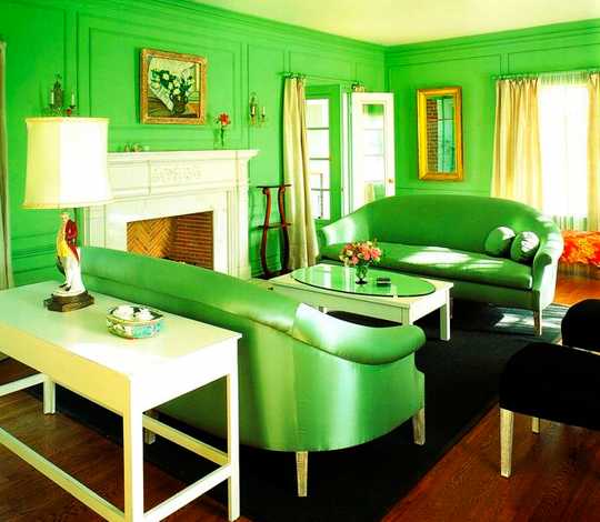 Green Room Colors Impressive With Room with Monochromatic Colors Picture
