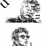 Biggie and Bob Dylan Typographic Portraits